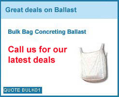 bulk bag ballast from as low as £40.00+vat