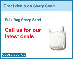 bulk bag Sharp sand from as low as £40.00+vat