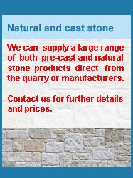 contact us for prices on natural and cast stone