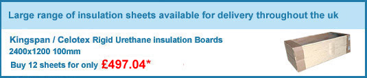 12no. 100mm celotex/kingspan insulation boards only £416.40 +VAT