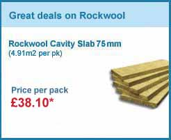 18 packs 75mm rockwool cavity slab (4.91m2 pack) only £424.44 +VAT